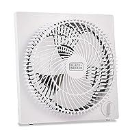 Black & Decker 9 inches Frameless Tabletop Box Fan, White