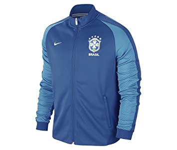 ca5a52875ae8 2016-2017 Brazil Nike Authentic N98 Track Jacket (Blue)
