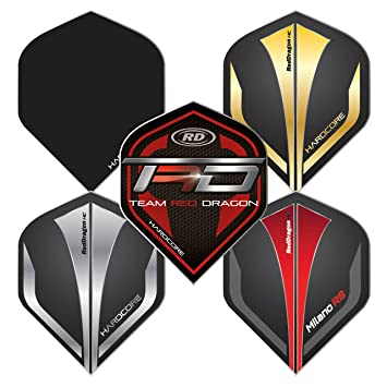 3 S/ätze pro Packung RED DRAGON Hardcore Players Flights