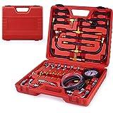 Kit de Herramientas de Manómetro de Prueba de Presión de Inyección de Combustible Profesional con Juego de Accesorios Adaptad