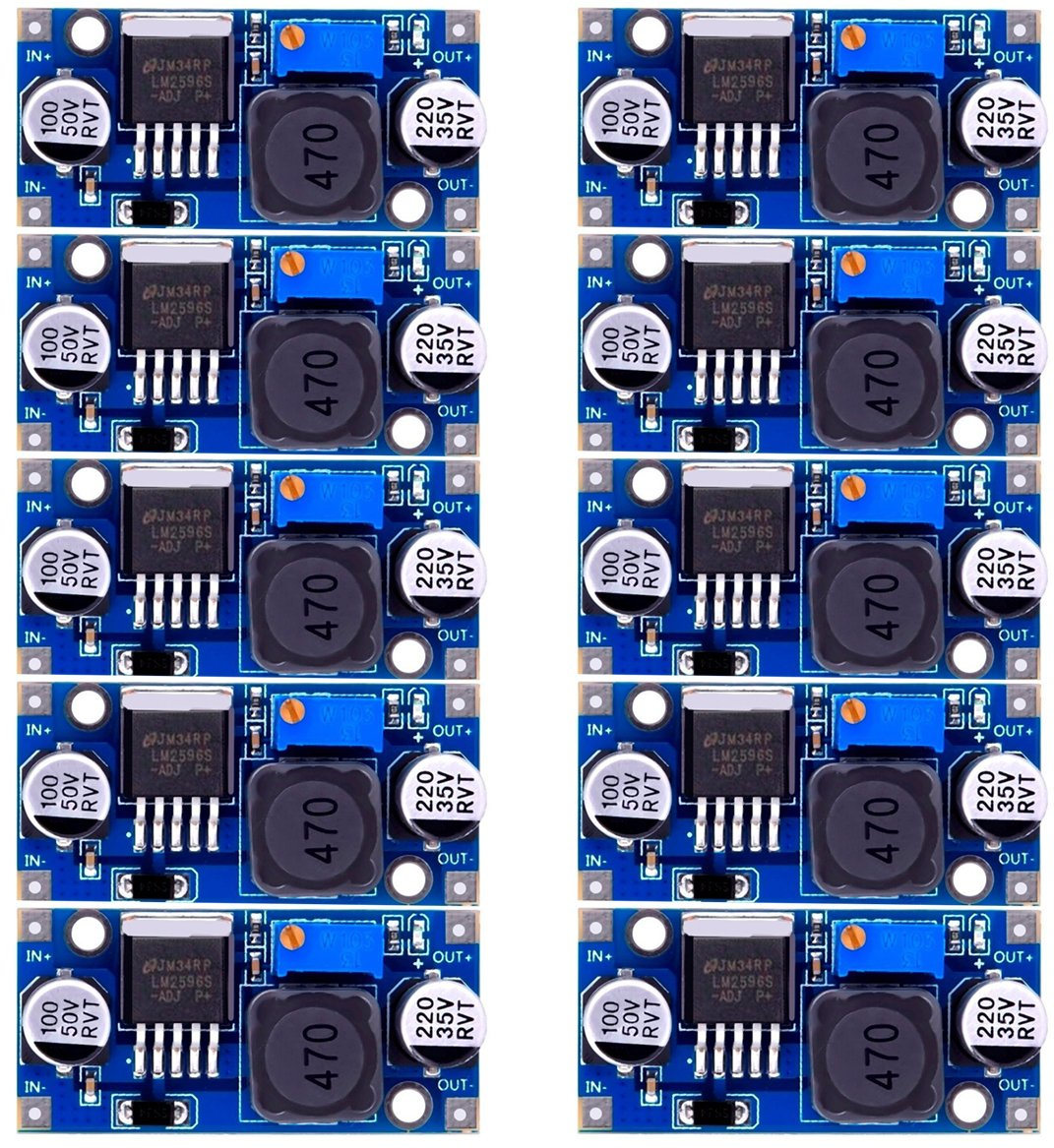 DaoRier LM2596 LM2596S De DC DC Converter 3,0 40 V hasta 1,5 1 pieza 35 V ajustable Fuente de alimentaci/ón Step Down M/ódulo para Arduino