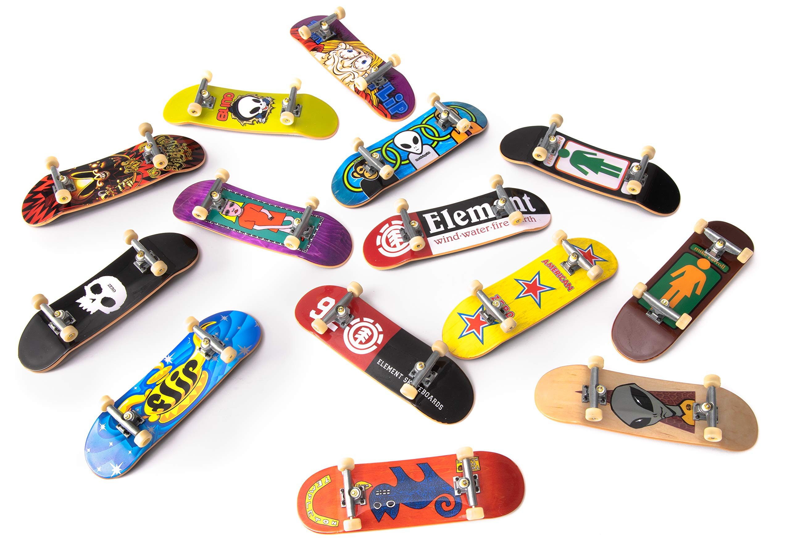 TECH DECK, Sk8 Factory DLX 14 Pack Fingerboards, Golden Era 90's Edition by TECH DECK