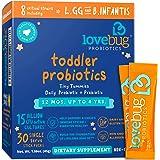 Lovebug Probiotic and Prebiotic for Kids, 15 Billion CFU, for Children 12 Months to 4 Years, Best Children's Probiotics…
