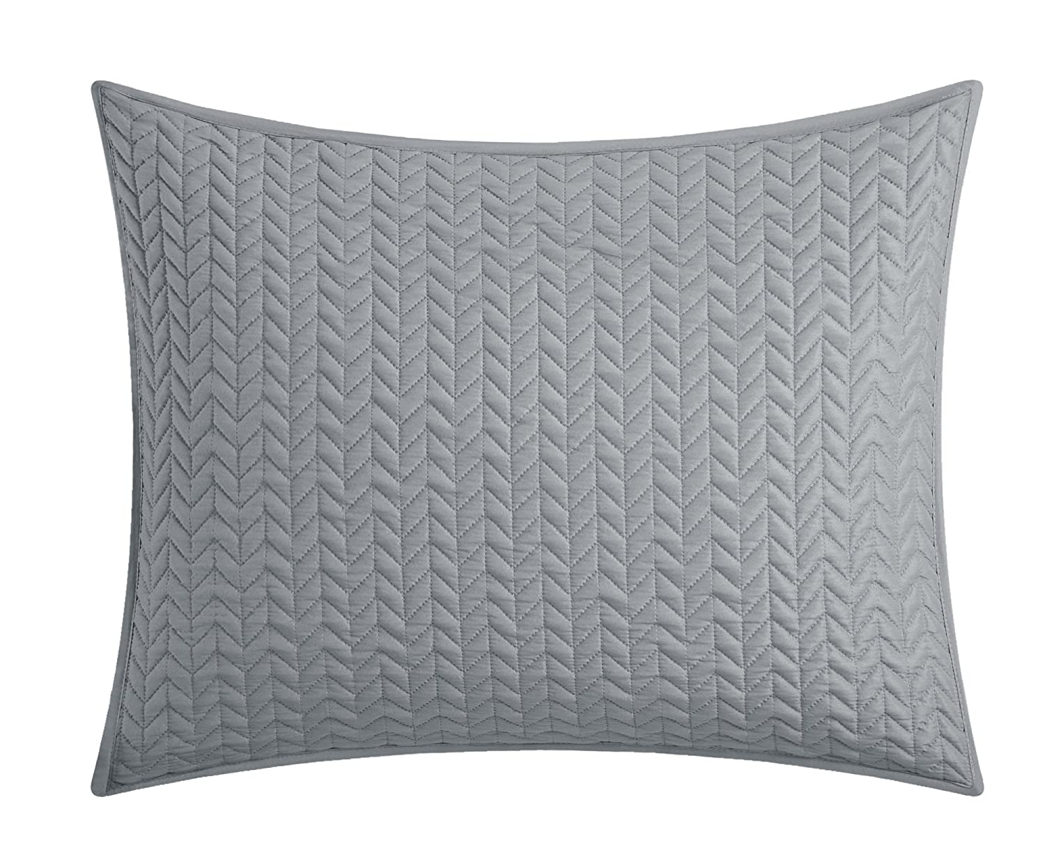 Gold BQS00316-AN Chic Home Weaverland 3 Piece Cover Set Geometric Chevron Quilted Bedding-Decorative Pillow Shams Included King
