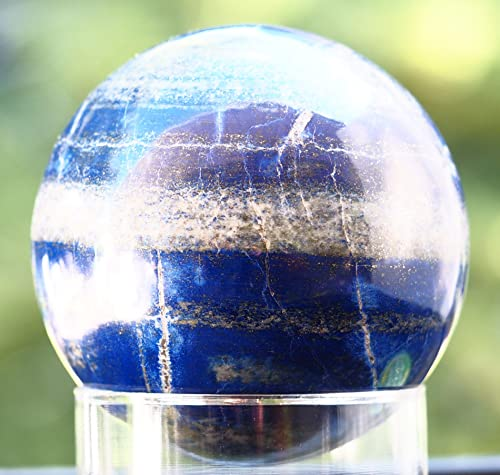 Lapis Lazuli Sphere Natural Genuine Round Ball w Stand 3 1 2 inch