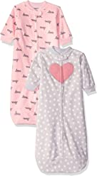 Carters Baby Girls 2-Pack Microfleece Sleepbag