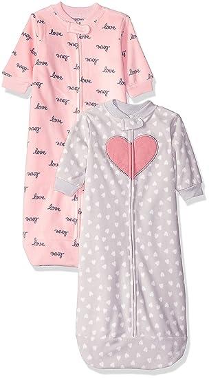 Carters Baby Girls 2-Pack Microfleece Sleepbag