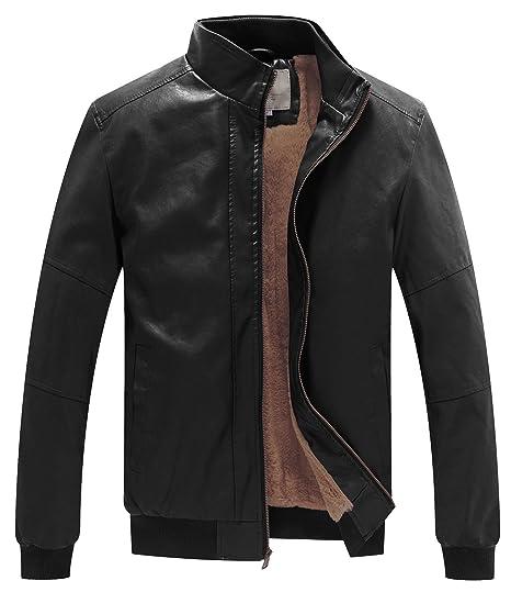 Wenven Men S Winter Fashion Faux Leather Jackets At Amazon Men S