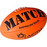 Laema Durable Soft Touch Embossed Grip Neon Colors AFL Australian Rules Footy Ball Size5