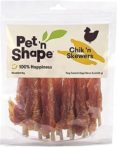 Pet 'n Shape Chik 'n Skewers – Chicken or Duck Wrapped Rawhide Dog Chew