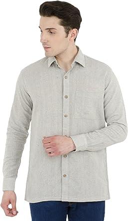 SKAVIJ Hombres Moda Camisa Bordada Hombre Breve Kurta Algodón India