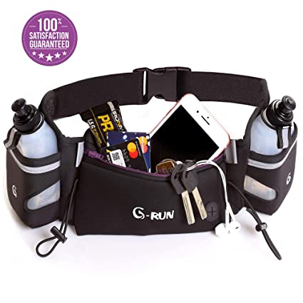 Hydration Running Belt With Bottles - Water Belts For Woman And Men -  IPhone Belt For a7436af92ba76