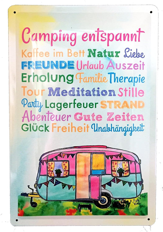 AnneSvea Camping IS MY Life. Cartel de Chapa Metal Caravana ...