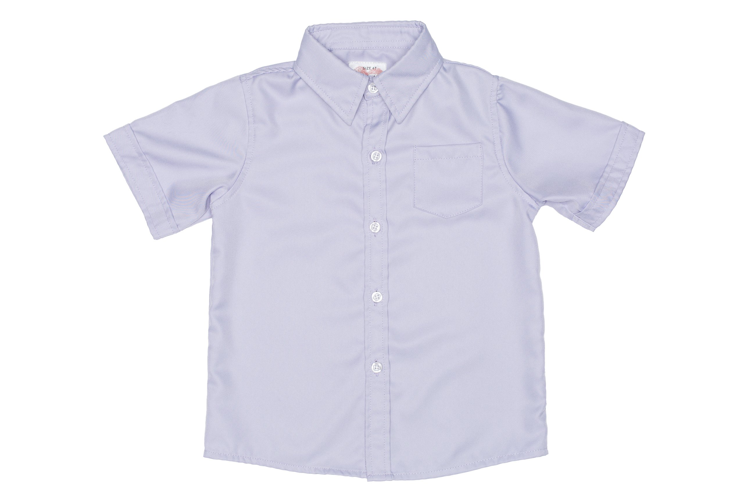2-Cute Designs Little Boys-Short Sleeve Dress Shirt-4T-Purple