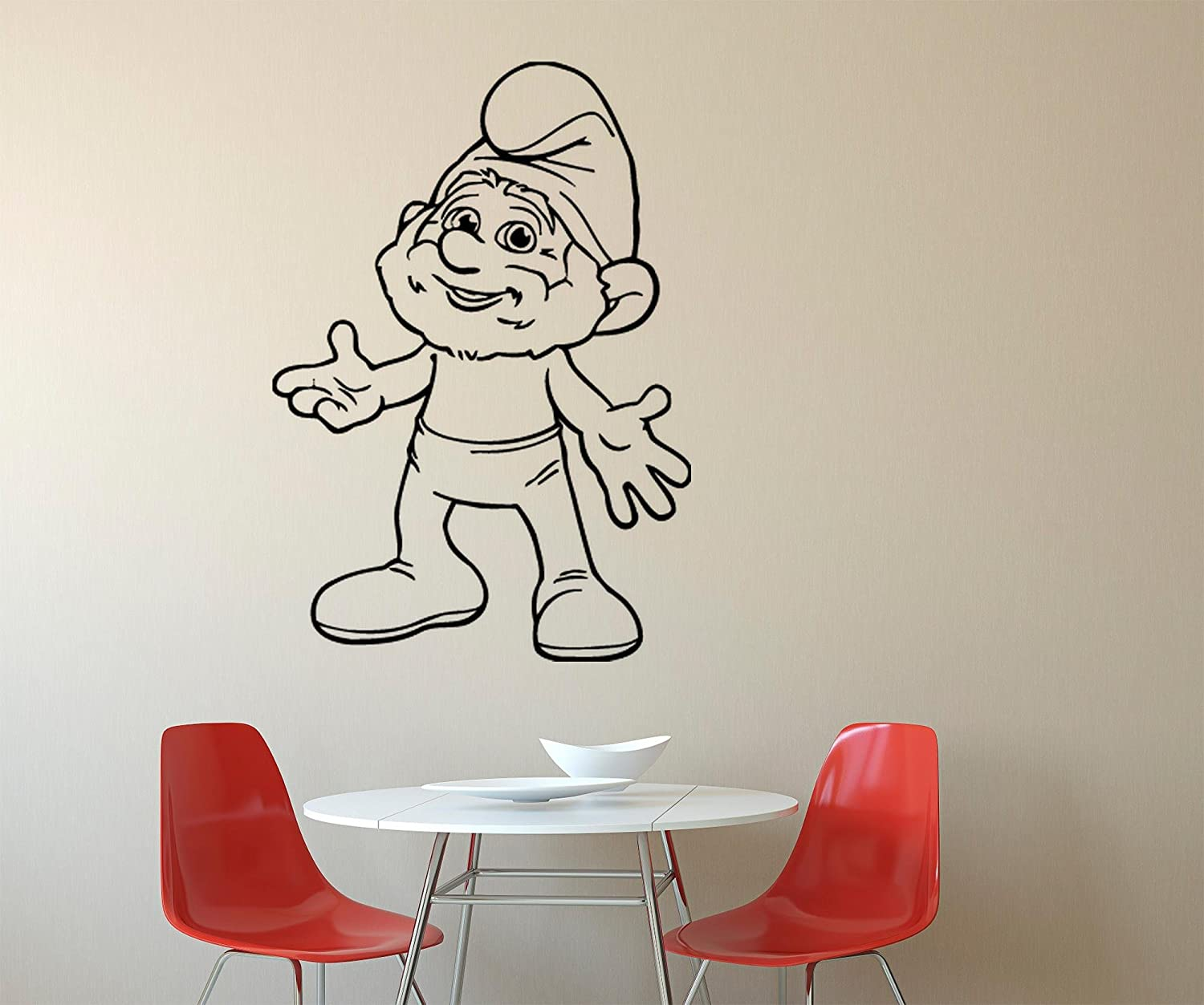 Amazon com cartoon wall decals decor vinyl stickers gmo7358 home kitchen