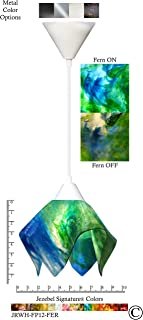 product image for Jezebel Signature JRWH-FP12-FER White Flame Pendant, Small, Fern