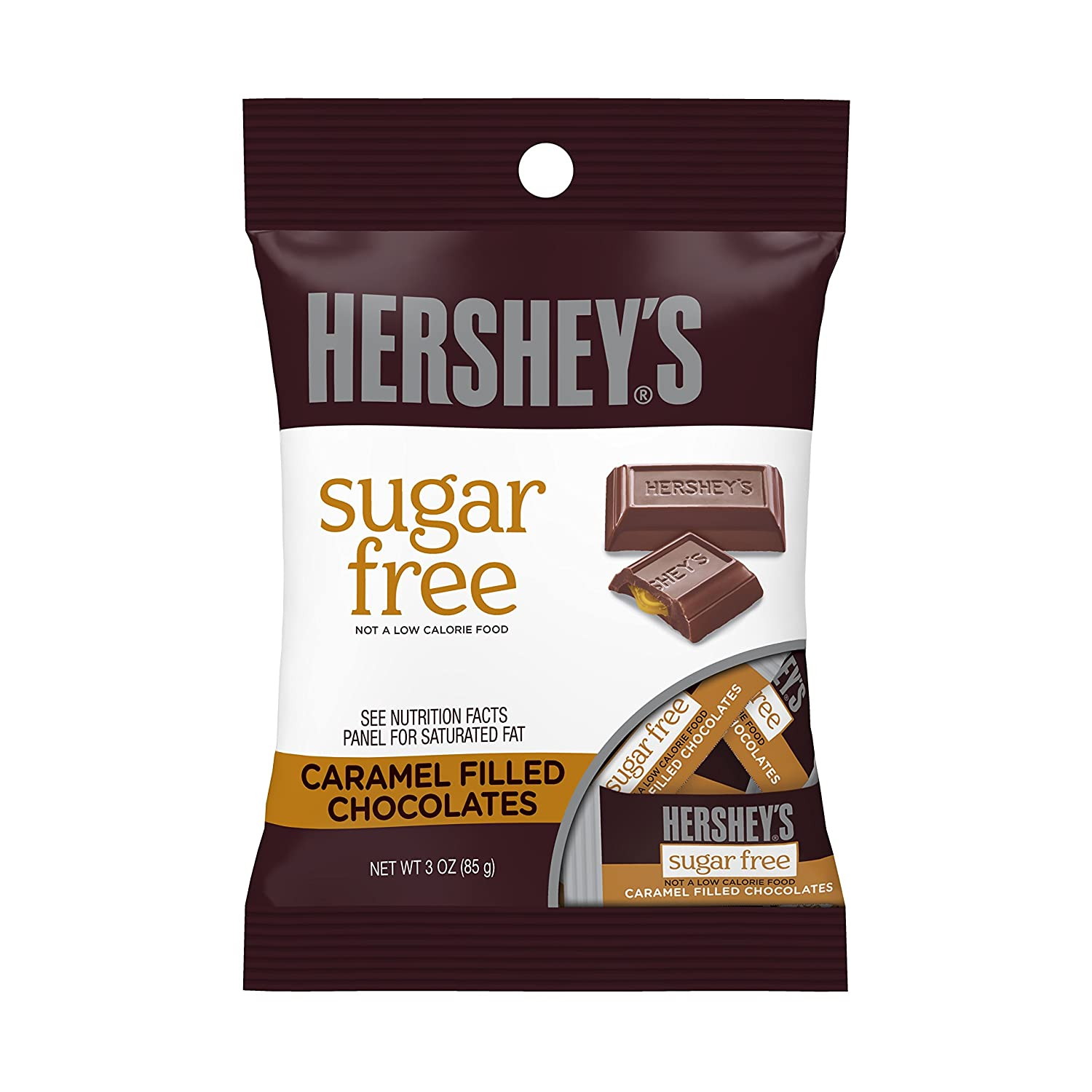 HERSHEY'S Sugar Free Chocolate Candy Bars,
