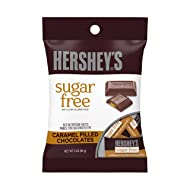 HERSHEY'S Holiday Chocolate Candy Bars, Sugar Free Caramel Filled, 3 Ounce (Pack of 12)