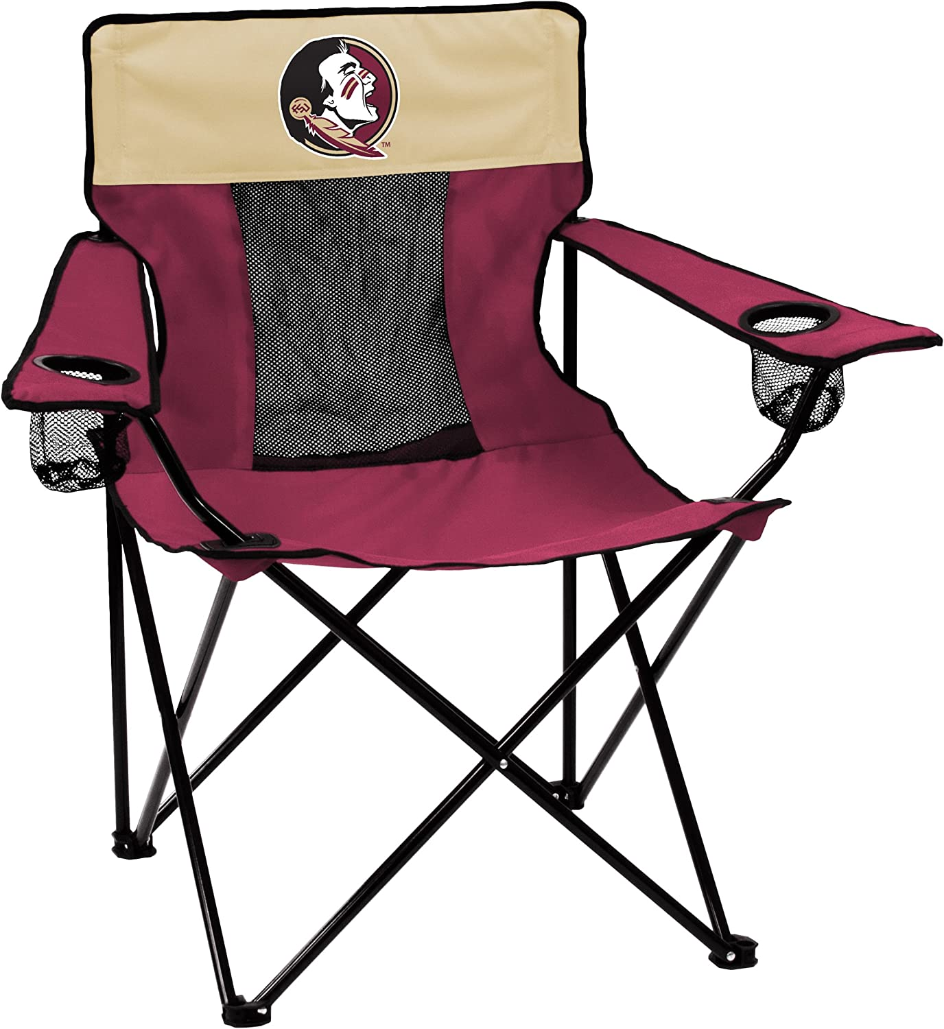NCAA Logo Brands Florida State Seminoles Elite Chair, Team Color