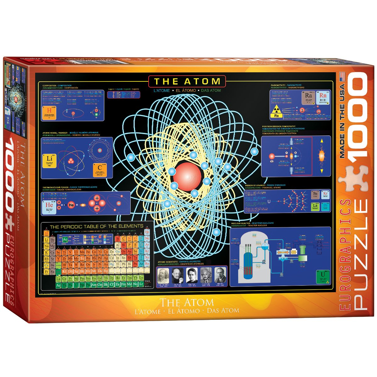 Amazon eurographics the atom 1000 piece puzzle toys games gamestrikefo Images