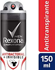 Antitranspirante Rexona Men Antibacterial + Invisible en aerosol 90 g