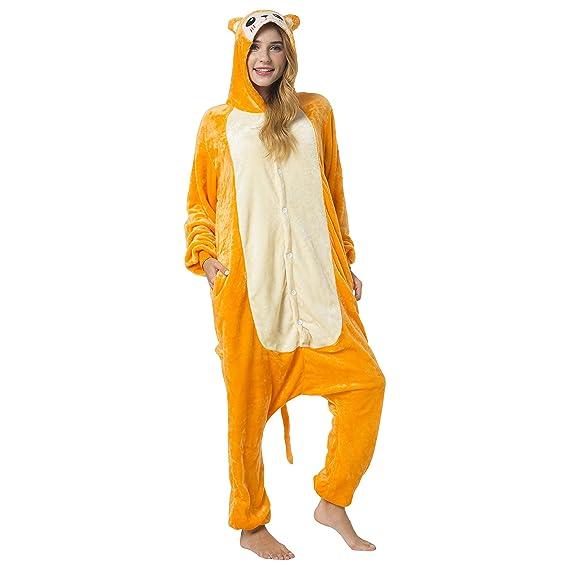 Katara 1744 - Kigurumi Pijamas Disfraz de Animal - Traje de Noche con Capucha - Adultos Unisexo - Mono, XL: Amazon.es: Juguetes y juegos