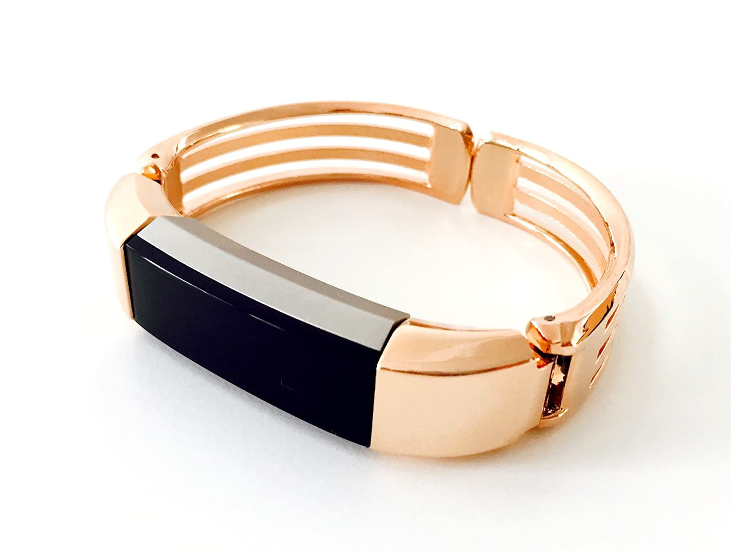 Bsi Rose Gold Metal Jewelry Bracelet Replacement Accessory Band For Fitbit Alta Fitness Activity Tracker Home Audio Theater