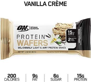 9-Count Optimum Nutrition Vanilla Flavor High Protein Wafer Bars