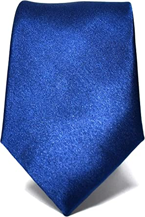 Oxford Collection Corbata de hombre Azul Marino Delgada - 100 ...