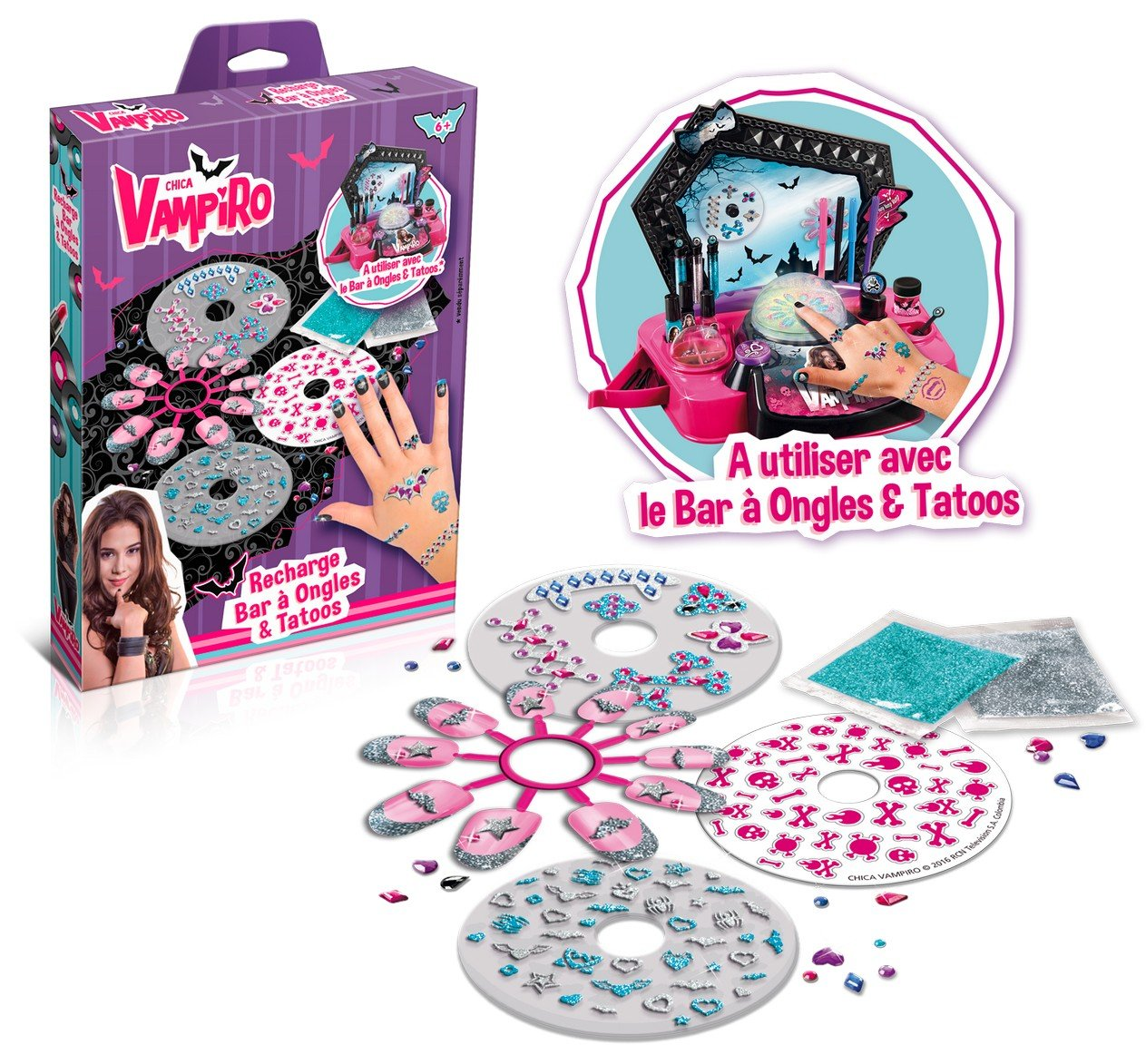 good selling so cheap the best attitude Canal Toys - CT45008 - Maquillage- Chica Vampiro - Recharge Bar à Ongles et  Tatoos