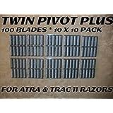 Personna Twin Pivot Plus - 100 Blades (10 x 10 Bulk Pack)