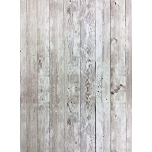 Yenhome Decorative Shiplap Peel and Stick Wallpaper 17.7x196 inch Removable Wallpaper for Kitchen Bedroom Living Room Wall Decor Wall Covering Peel and Stick Bulletin Board Paper Roll