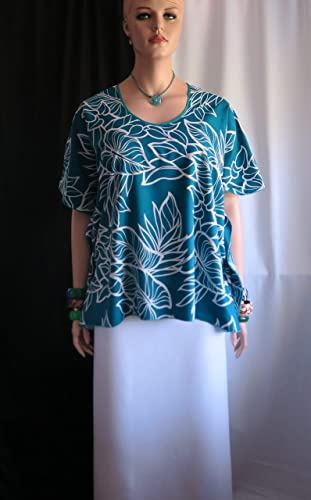 3f1364d16133b Image Unavailable. Image not available for. Color: Blue Kalo (taro) Hawaiian  Polynesian Clothing Woman's Butterfly caftan ...