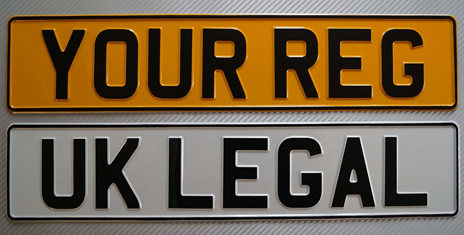 Pressed Aluminium UK Legal Number Plates: Amazon.co.uk: Car ...