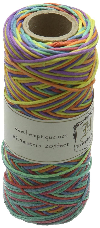 Hemptique Hemp Variegated Cord Spool 20lb 205'-Rainbow, Other, Multicoloured Notions Marketing 499893