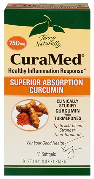 Terry Naturally Cura Med Bcm 95 Curcumin  Better Than Tumeric 750 Mg 30 Softgels by Terry Naturally