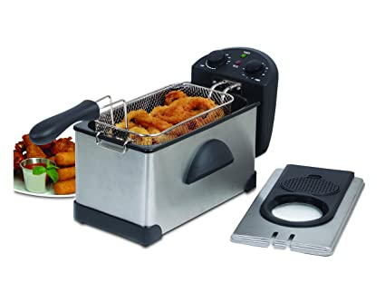 Skyline VTL-5525 2000-Watt Deep Fryer with Trimer (Black)