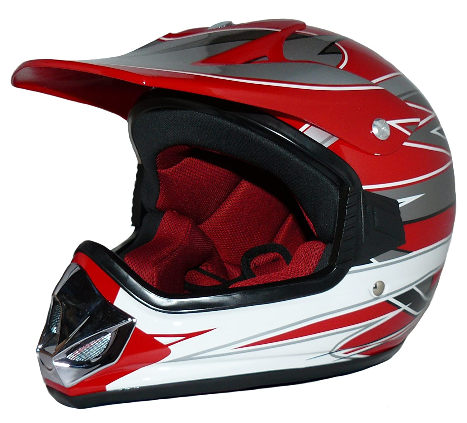 Protectwear Kids Cross Helmet MaX Racing red gloss V310-RT Size XS Youth L 53//54 cm