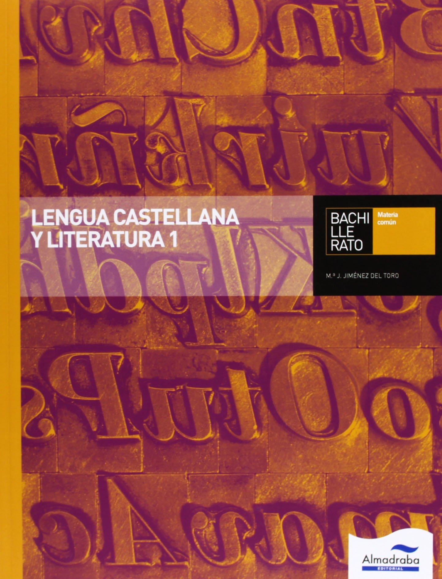 Lengua Castellana Y Literatura 1. Bachillerato Libros de texto - 9788483089200: Amazon.es: Jiménez del Toro, Mª Jesús: Libros