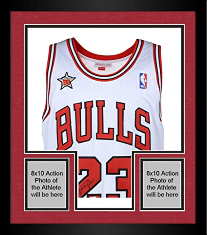 ba28a5781 Framed Michael Jordan Chicago Bulls Autographed White Mitchell   Ness Jersey  with 1998 All Star Patch