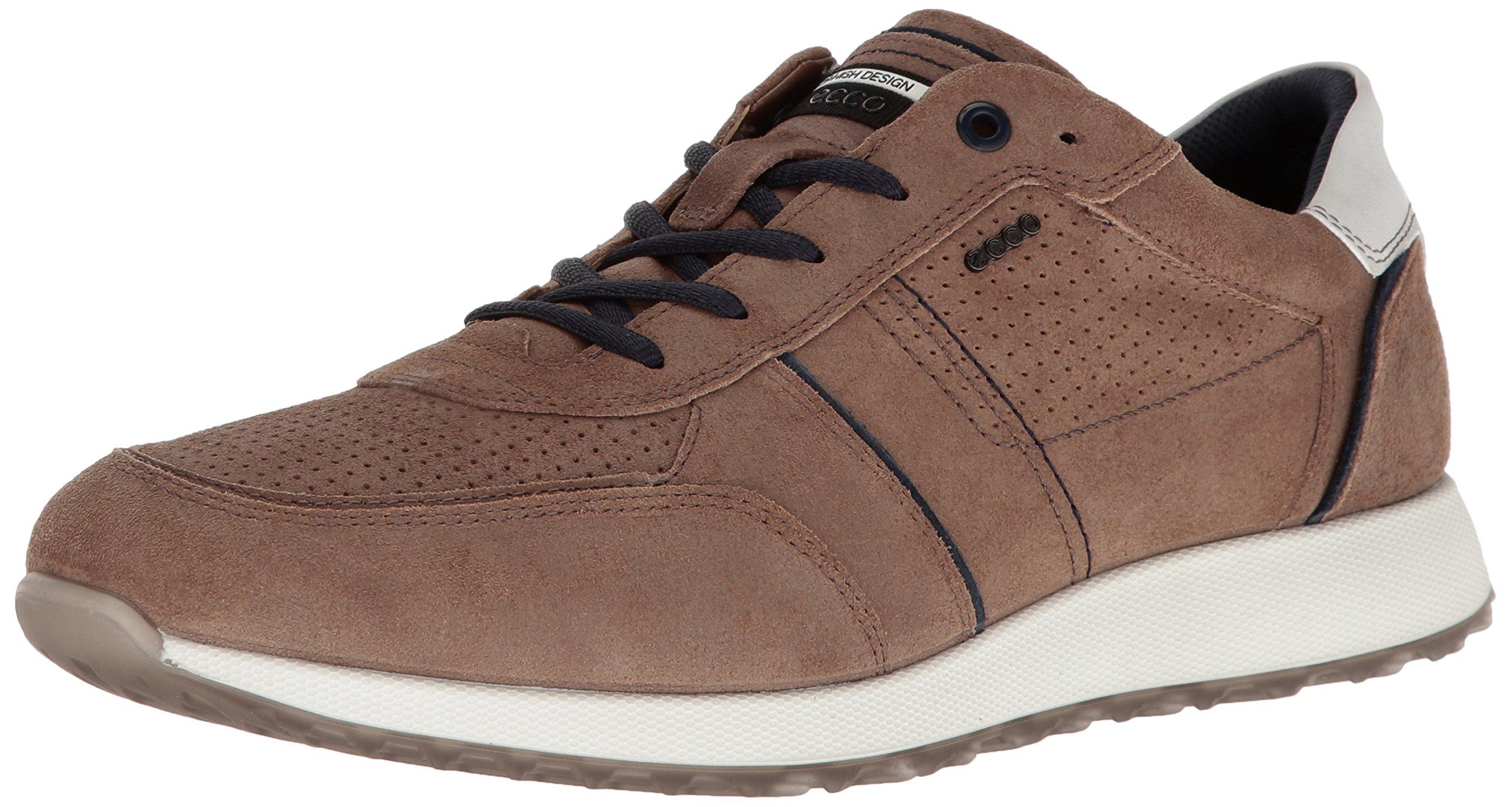 ECCO Men's Summer Sneak Fashion Sneaker, Navajo Brown/Marine, 40 EU/6-6.5 M US