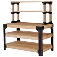 2x4basics 90164 Custom Work Bench and Shelving Storage System