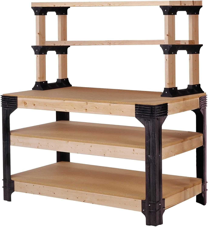 2x4basics 90164 Custom Work Bench and Shelving Storage System, Black: Home Improvement