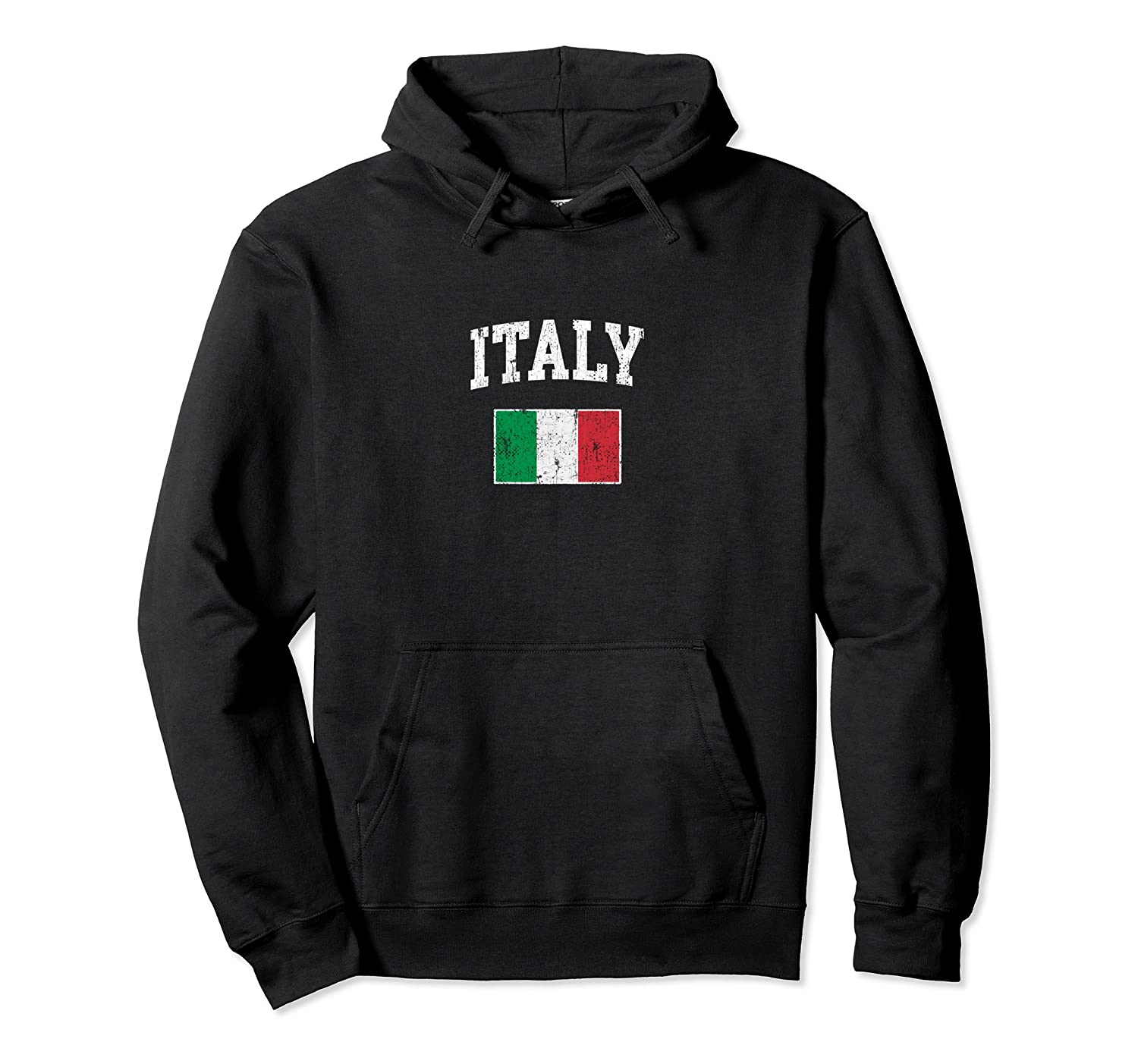 Vintage Italy Flag Pullover Hoodie College Shirt-Samdetee