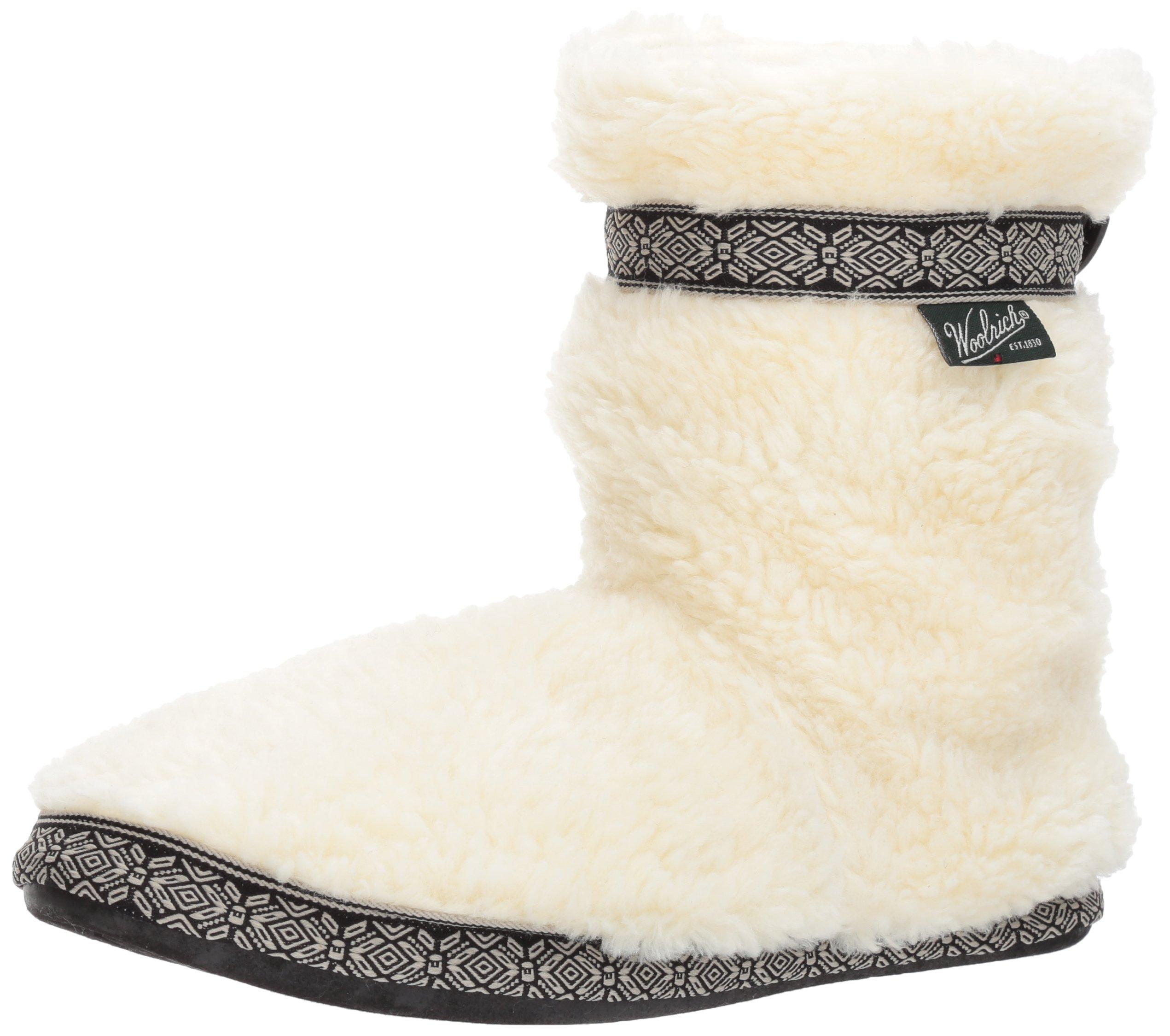 Woolrich Women's Whitecap Boot Slipper, Creampuff, 7 M US