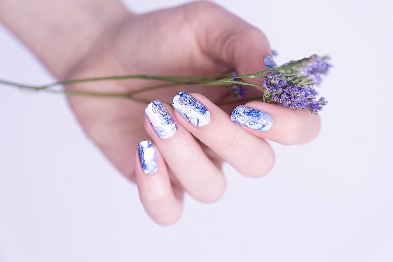 Miss Sophie\'s Nagel-Folien Baby Blush: blau Nagel-Design / Nail-Art ...