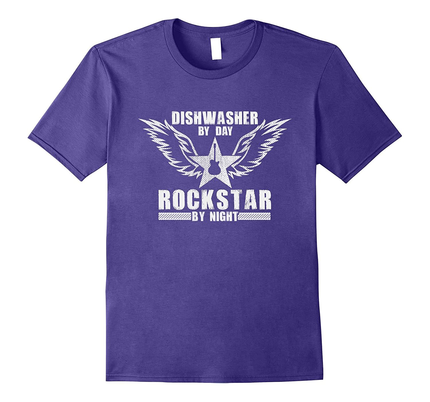 The Official Dishwasher by Day  Rock Star by Night T-Shirt-Vaci