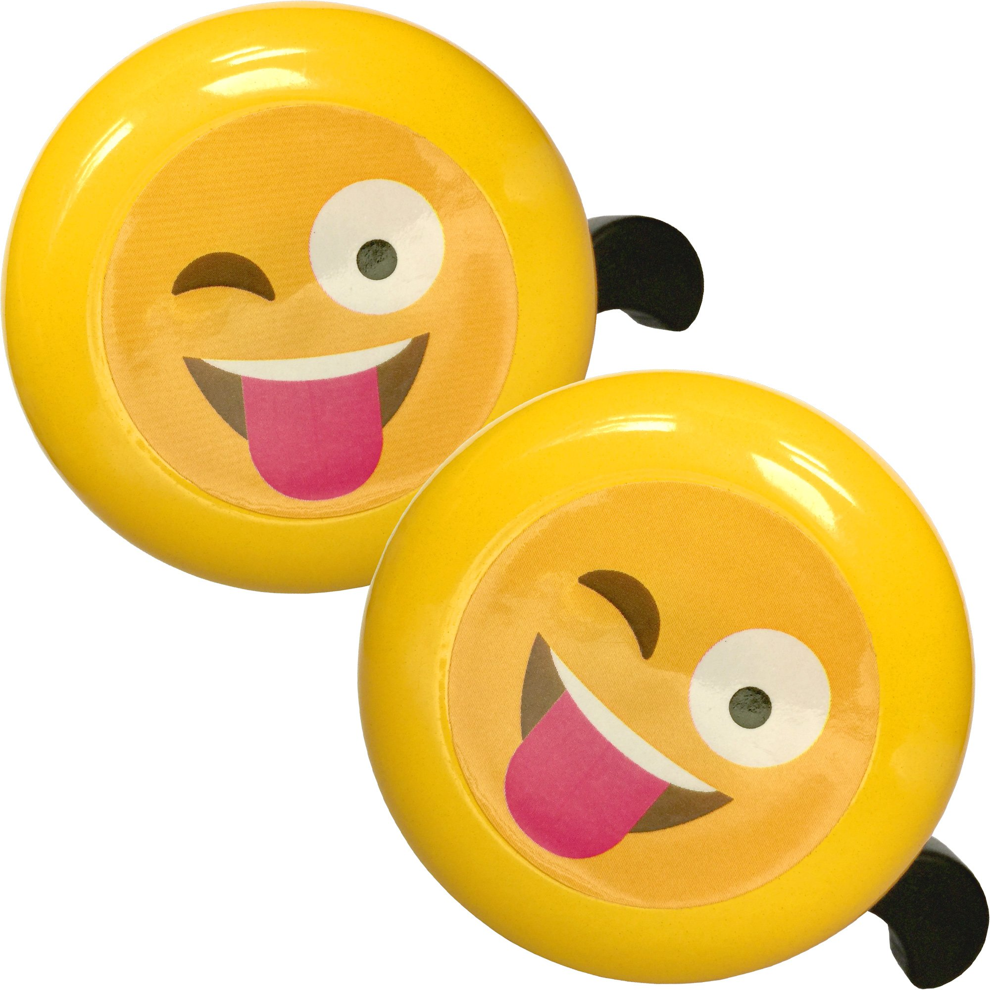 Bikes&.co 2 Pack - Emoji Bike Bell for Boys and Girls Children's Cycles or Toy Scooters from