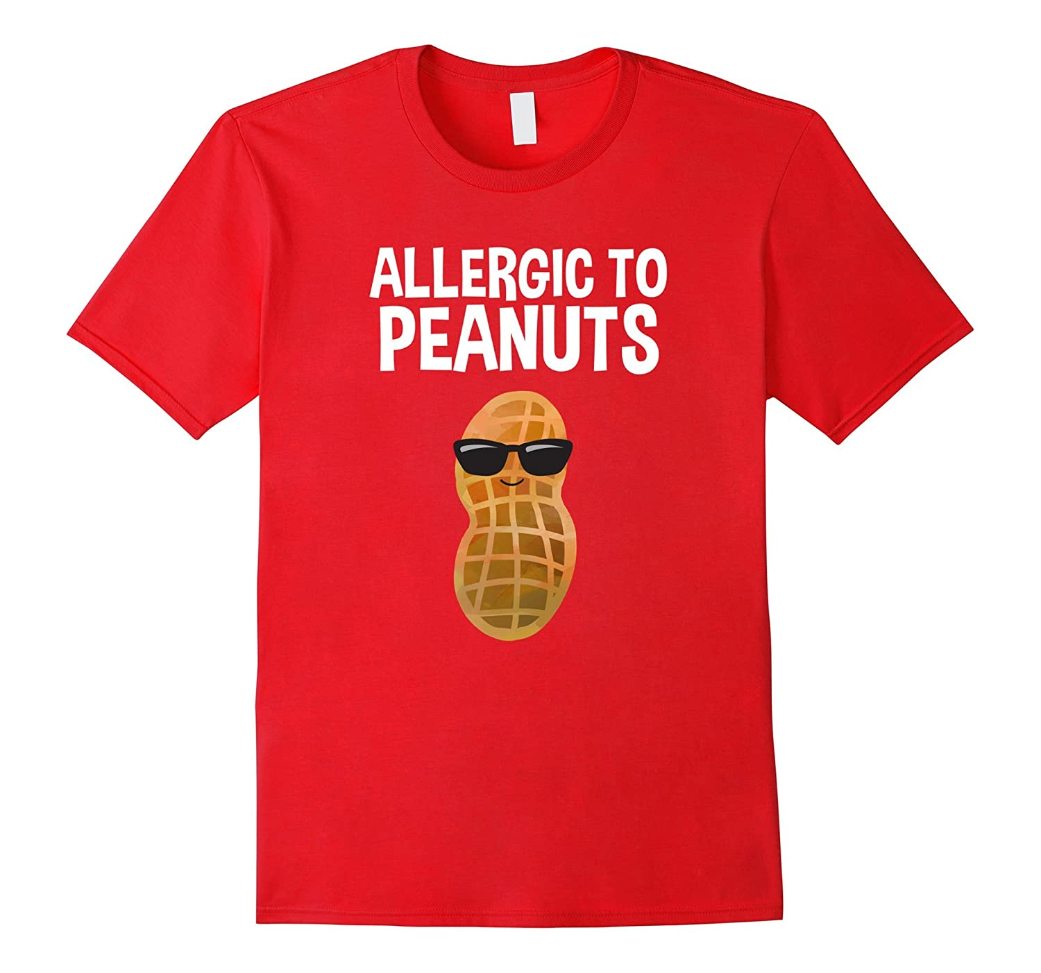 Allergic to Peanuts All Nuts T-Shirt Food Allergy Awareness-ANZ