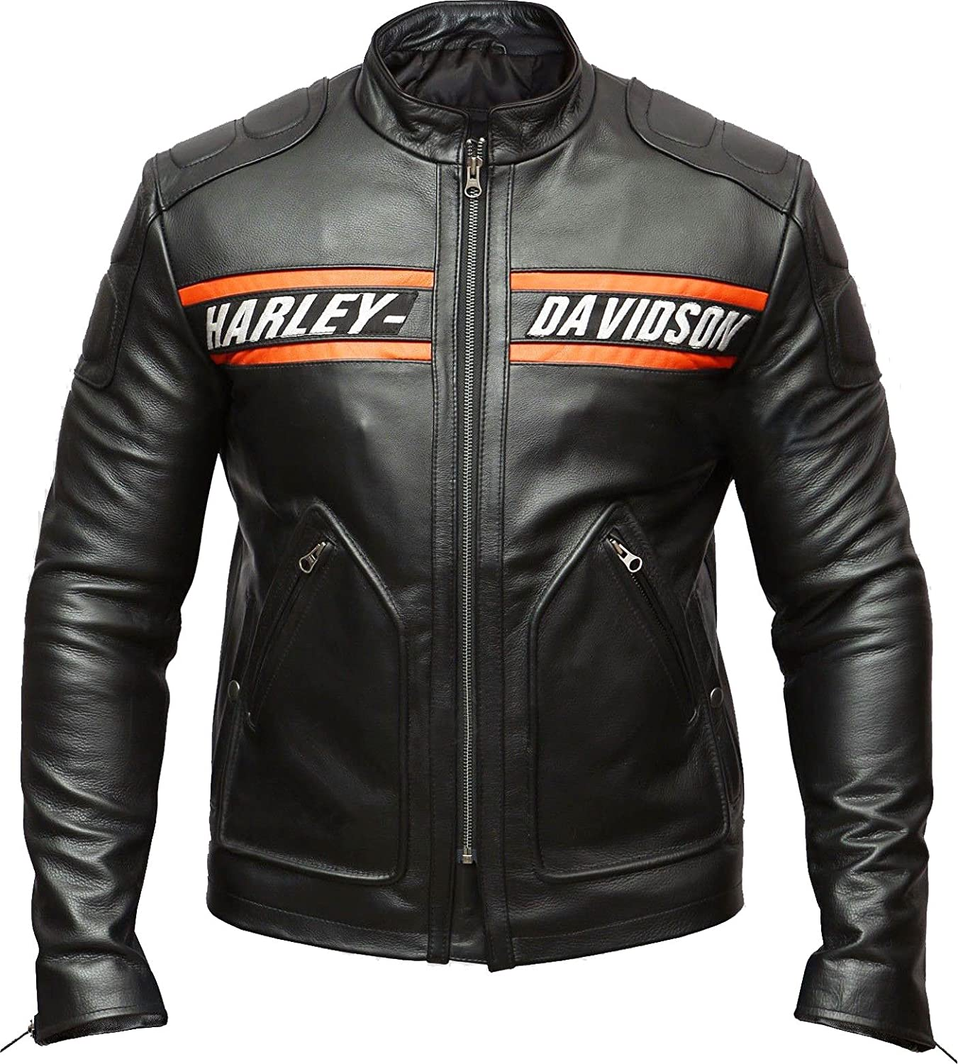 Harley Davidson Biker Genuine Leather Jacket Style Motorcycle Goldberg WWE